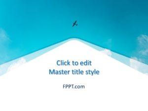 Plantilla de Sky PowerPoint gratis