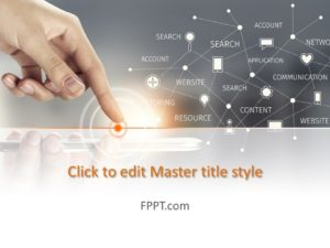 Plantilla de PowerPoint de Digital Connect gratuita