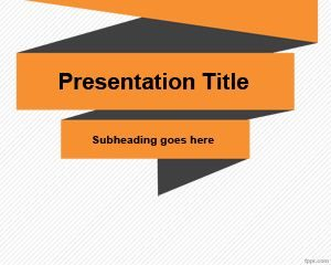 Plantilla simple de origami de PowerPoint