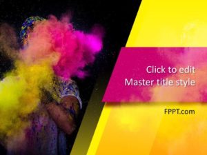 Plantilla de PowerPoint Color Art gratis