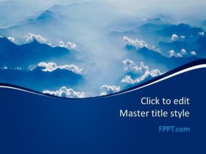 Plantilla de PowerPoint Blue Clouds gratis