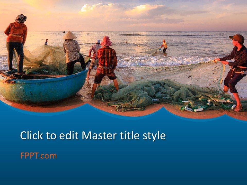 Plantilla de PowerPoint de Pesca Gratis