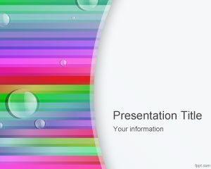 Plantilla de PowerPoint Free Rainbow Lines