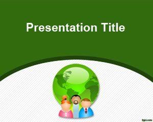 Plantilla de PowerPoint de Comunicación Verde Gratuita