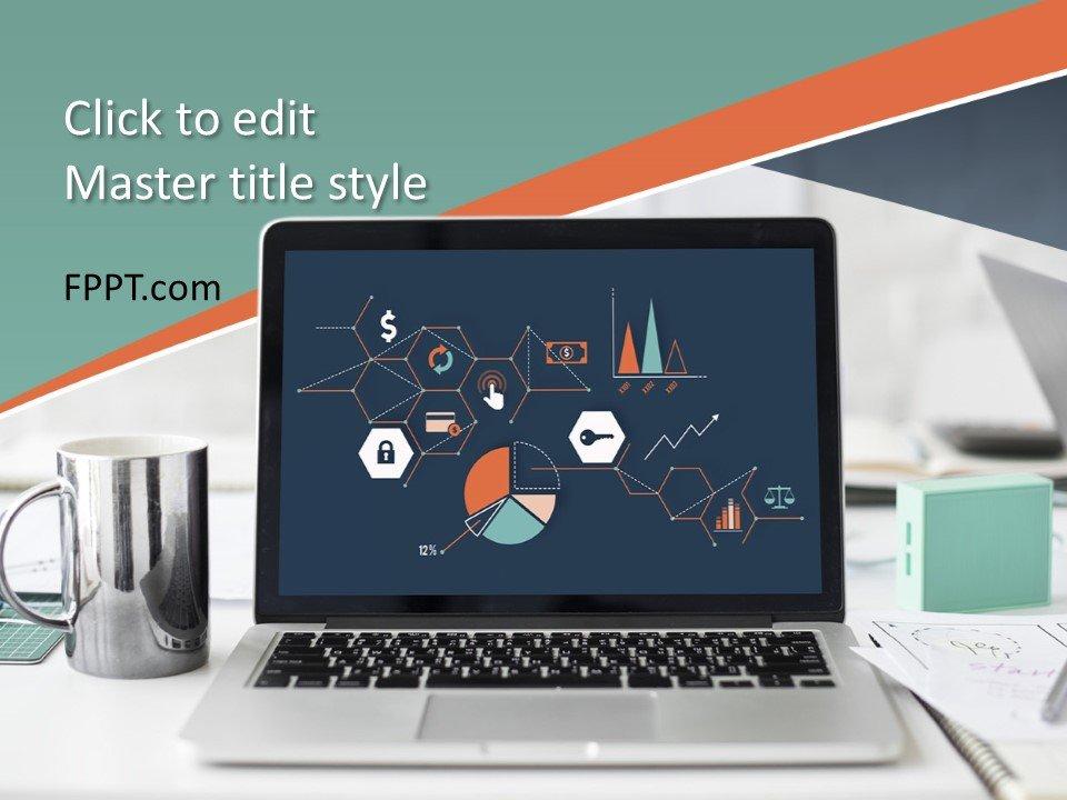Plantilla de PowerPoint de Diseño Infográfico de Cuaderno Gratis