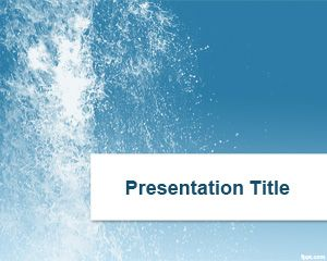 Plantilla Splash Water PowerPoint