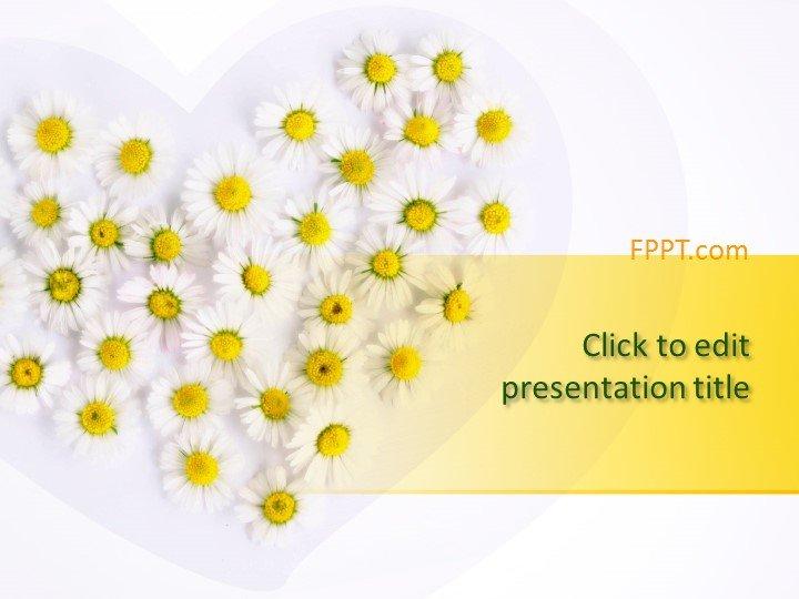 Plantilla de PowerPoint de Manzanilla Gratis