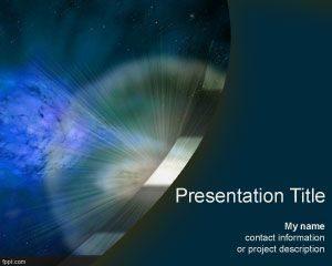 Plantilla de Supernova PowerPoint gratis