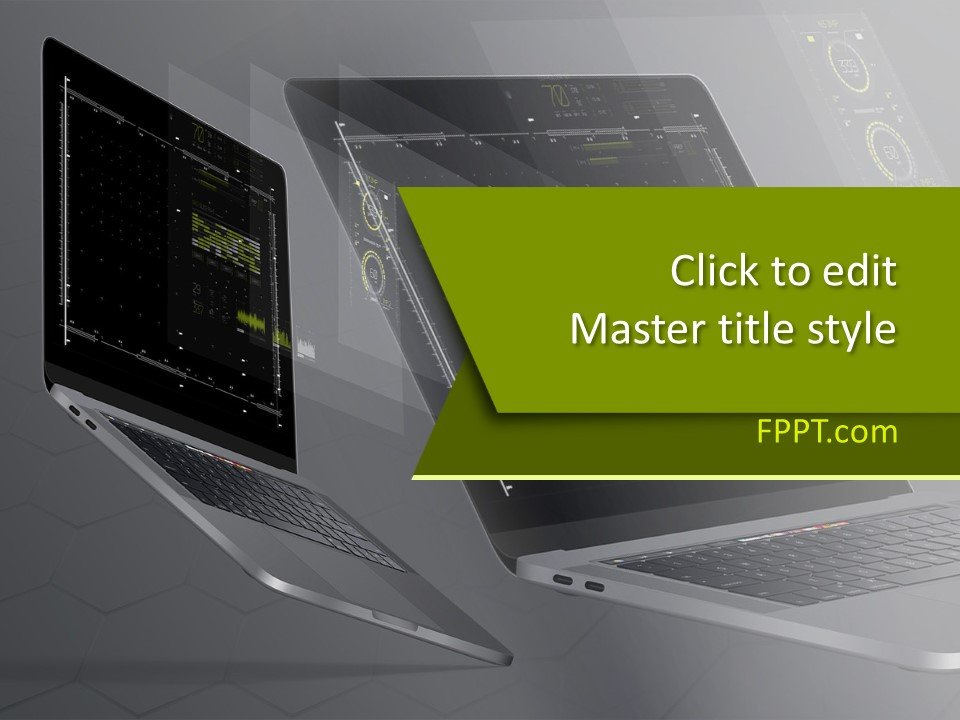 Plantilla de PowerPoint de computadora de tecnología libre