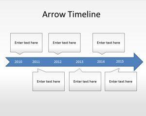 Diagrama de la línea de tiempo de Free Arrow Plantilla de PowerPoint