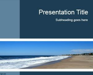 Plantilla de PowerPoint de Seaside