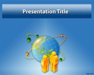 Plantilla de PowerPoint Globe gratis
