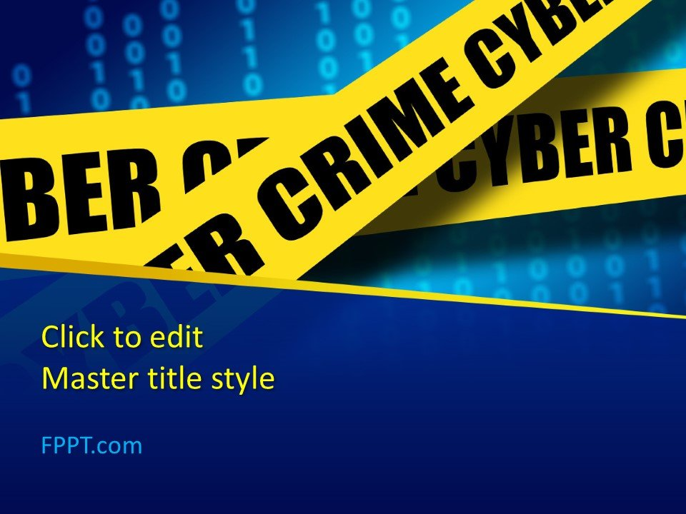 Plantilla gratuita de PowerPoint sobre el delito cibernético
