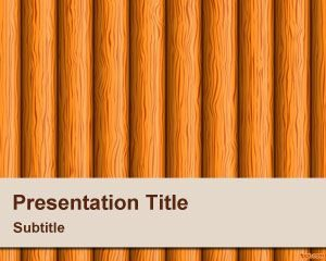 Plantilla de PowerPoint de Wood Stems