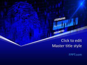 Plantilla de PowerPoint de autenticación gratuita