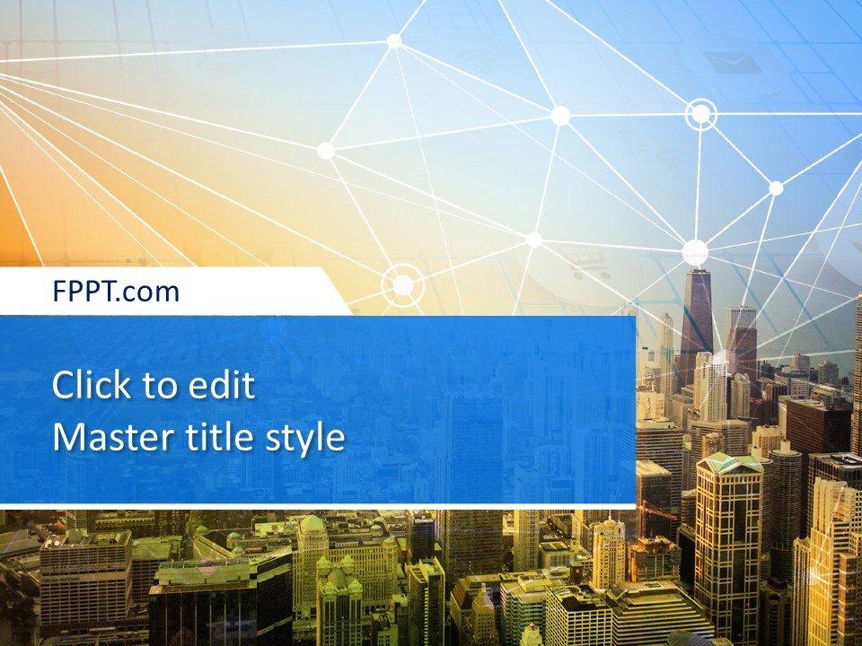 Plantilla PowerPoint Smart City gratuita