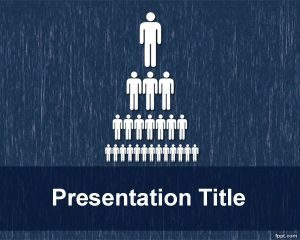 Plantilla de PowerPoint de Estructura Organizacional Libre