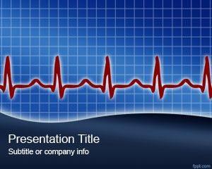 Plantilla de PowerPoint de Heart Rythm gratis