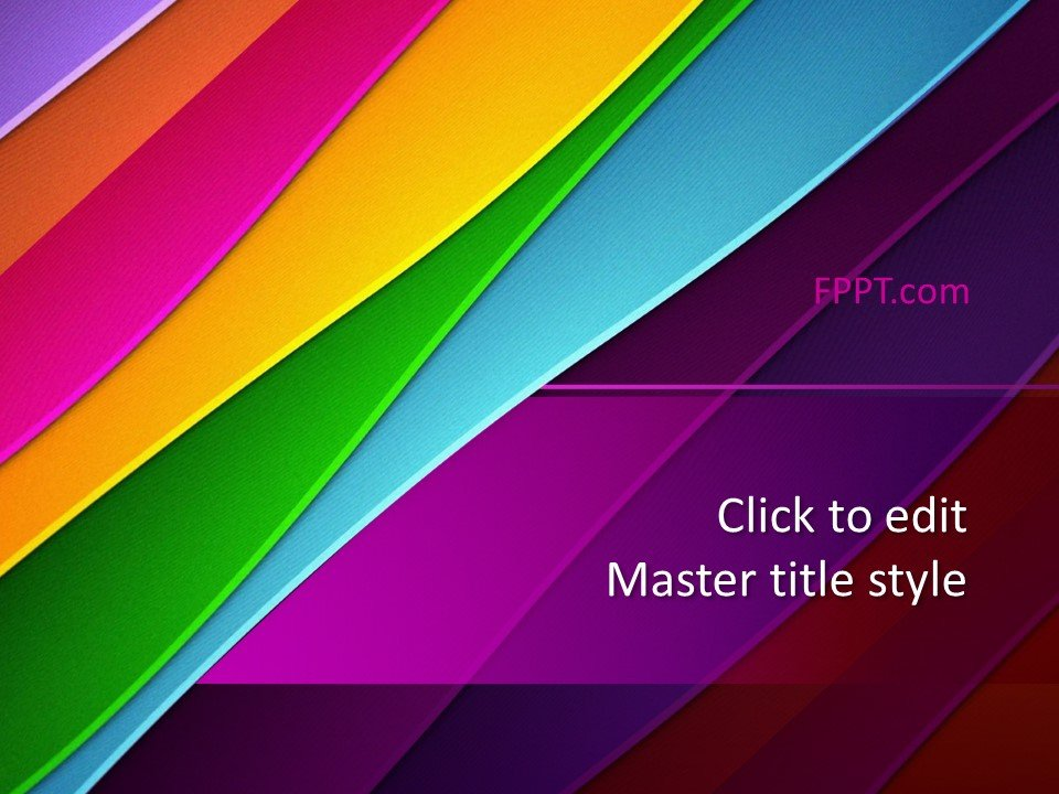 Plantilla de diseño PowerPoint a todo color gratis