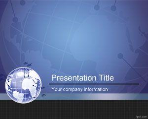 Plantilla de PowerPoint de Socio Global Gratuita