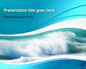 Plantilla de PowerPoint de Ocean Waves