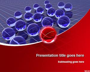 Plantilla de PowerPoint de Liderazgo de Esferas 3D Gratis