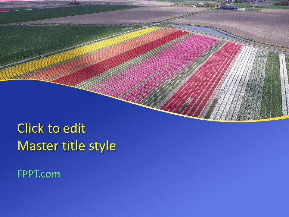 Plantilla de PowerPoint de Free Fields