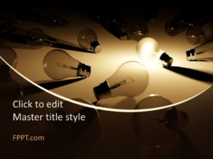 Lámparas gratuitas PowerPoint Template