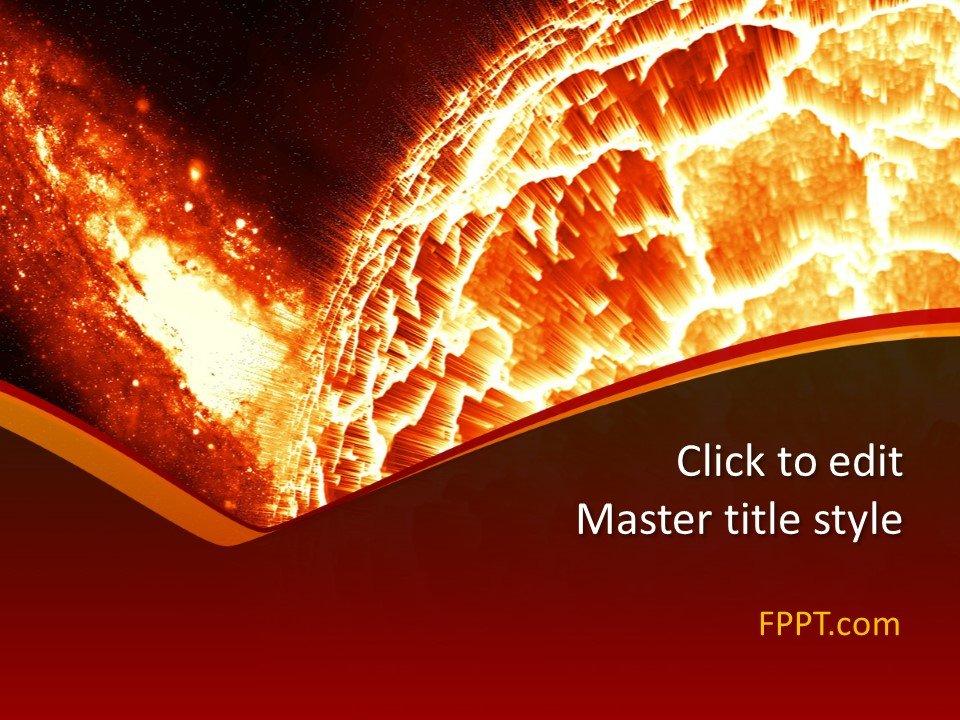 Plantilla de PowerPoint de Galaxy gratis