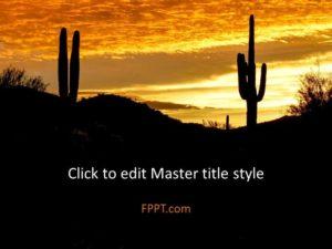 Plantilla de presentación de cactus gratis