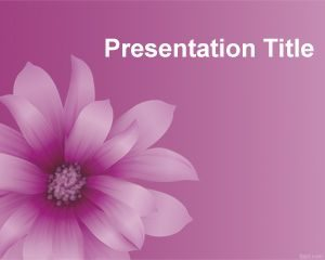 Plantilla de PowerPoint Flor Púrpura Gratis