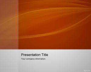 Gratis Orange Capture Lead PowerPoint