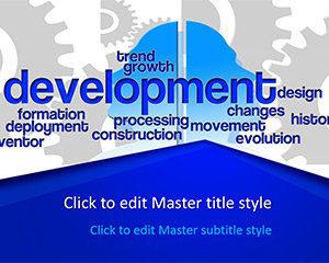 Plantilla PowerPoint de desarrollo gratuito