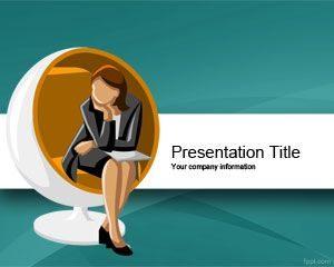 Plantilla de PowerPoint para la Beca de la Mujer Ejecutiva Gratuita