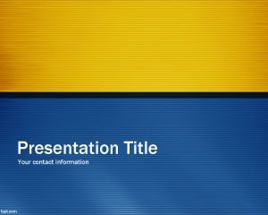 Plantilla de PowerPoint Blue Time