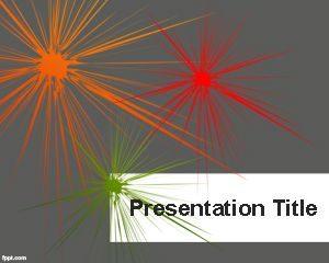 Plantilla de PowerPoint de Rayos de Color Gratis