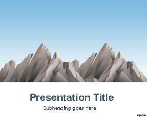 Plantilla de PowerPoint para Montañas