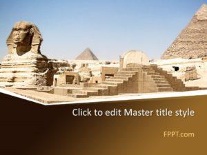 Plantilla de PowerPoint Sphinx gratis