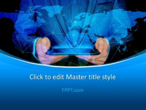 Plantilla de PowerPoint de Global Business Man gratis
