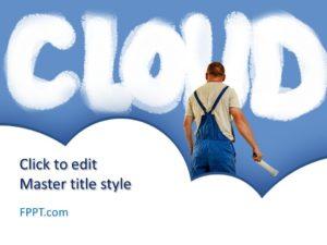 Plantilla de PowerPoint de Nube Gratuita
