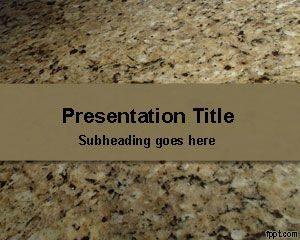 Plantilla de PowerPoint Free Granite Stone