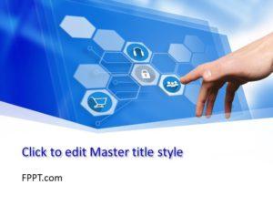 Plantilla de PowerPoint Digital World gratuita
