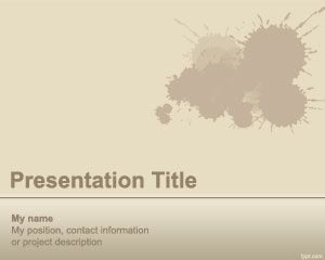 Splash PowerPoint Plantilla