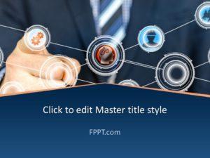 Plantilla de PowerPoint de Tecnología de Hombre de Negocios Gratuita