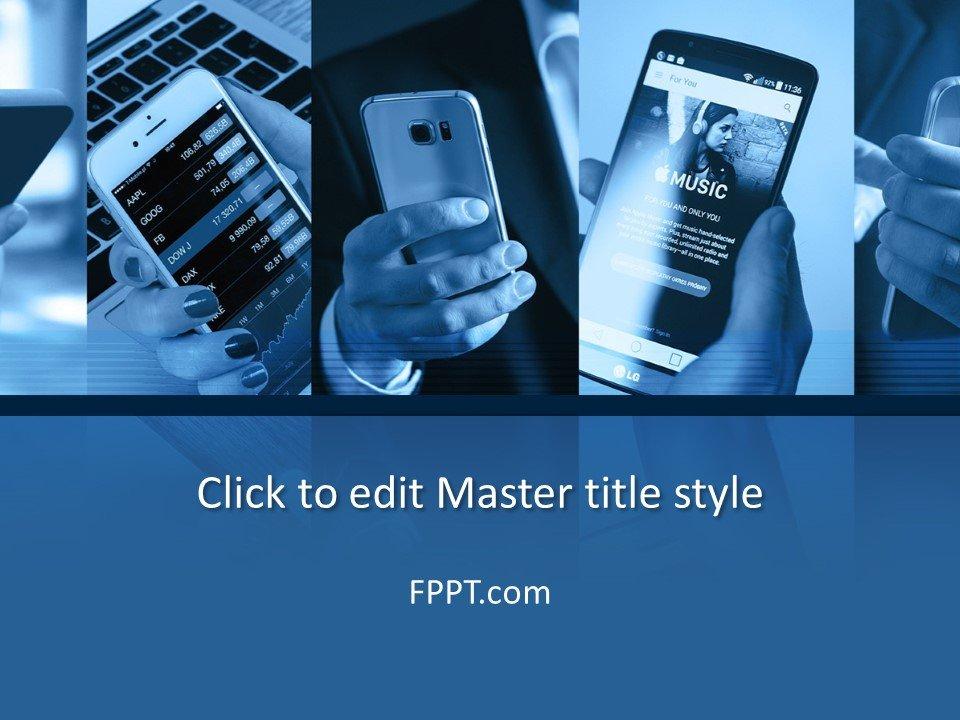 Plantilla de PowerPoint de tecnología móvil gratuita