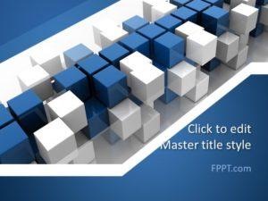 Plantilla de PowerPoint Azul Abstracto Gratis