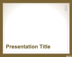 Plantilla de Estilo Formal de PowerPoint