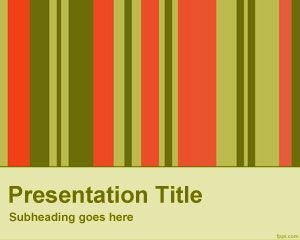 Plantilla de PowerPoint de Barras Verticales Libres