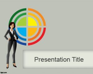 Plantilla de PowerPoint Business Lady gratuita