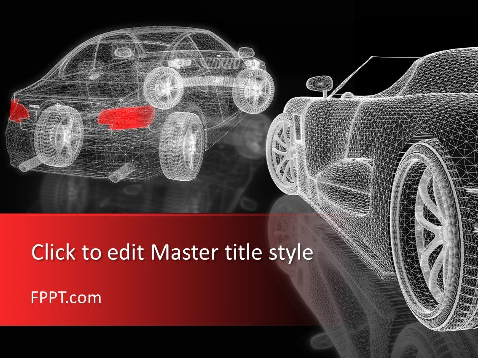 Plantilla de PowerPoint 3D Car Mesh gratis